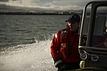 U.S. Coast Guardsmen transit to and from USCGC Sycamore (WLB 209) prepare for a spilled oil recovery system exercise during Arctic Edge 2012 near Barrow, Alaska, Aug. 1, 2012 120801-F-WT312-269.jpg