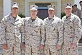 U.S. Marine Corps Gen. James F. Amos, center left, the commandant of the Marine Corps, and Sgt. Maj. of the Marine Corps Micheal P. Barrett, right, stand for a photo with Marines assigned to Special Purpose 130616-M-LU710-010.jpg