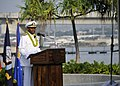 U.S. Navy Rear Adm. Fernandez L. Ponds, the commander of Navy Region Hawaii and Naval Surface Group Middle Pacific, speaks during a Pearl Harbor 71st anniversary commemoration ceremony at the Pearl Harbor 121207-N-DB801-161.jpg