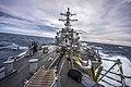 U.S. Navy destroyer transits the Mediterranean Sea. (38491051655).jpg