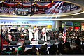 U.S. Sailors assigned to the U.S. 7th Fleet Band contemporary music ensemble Orient Express perform for the audience inside SM City Iloilo at Iloilo, Philippines, March 2, 2012 120302-N-SM668-011.jpg