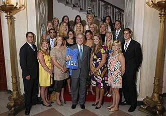 Adam Krikorian - At the White House with his water polo team, June 2008