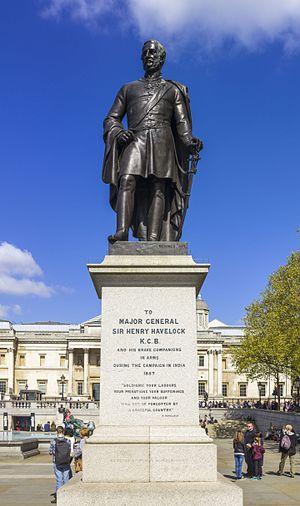 Henry Havelock - The statue of General Havelock in Trafalgar Square, London