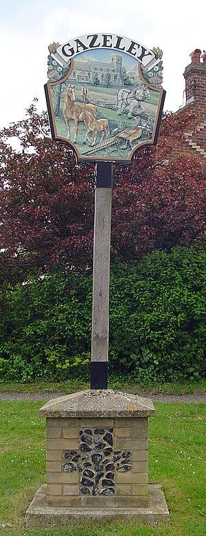 Gazeley - Signpost in Gazeley