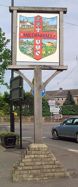 Mildenhall, Suffolk - Signpost in Mildenhall
