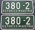 US-Forces-in-Austria USFA 1954-1955 license plate 380-2 pair.jpg