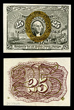 Twenty five-cent second-issue fractional note
