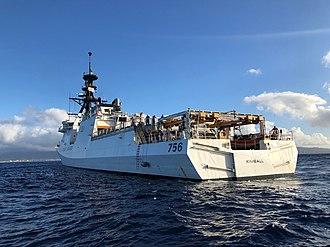 USCGC Kimball (WMSL-756) - Image: USCGC Kimball (WMSL 756) arrives to Honolulu for first time 181222 G IA651 839