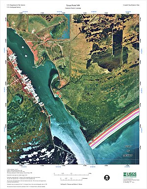 Sabine Pass - USGS map of Sabine Pass