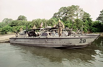 "Riverine Assault Craft - Image: USMC ""Sea Ark"" Riverine Assault Craft (RAC)"