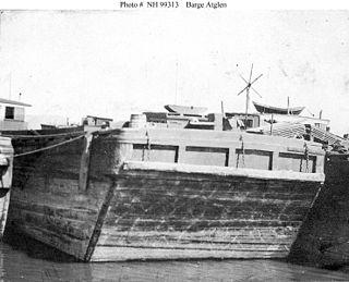 USS <i>Atglen</i> U.S. Navy barge during the First World War