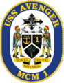 USS Avenger MCM-1 Crest.png