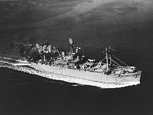 USS Blue Ridge (AGC-2) underway in 1943.jpg