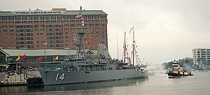 USS Chief and the tugboat Ybor in Tampa