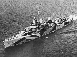 USS Leutze (DD-481) underway in Eliott Bay, Washington (USA), 5 April 1944 (19-N-64260)