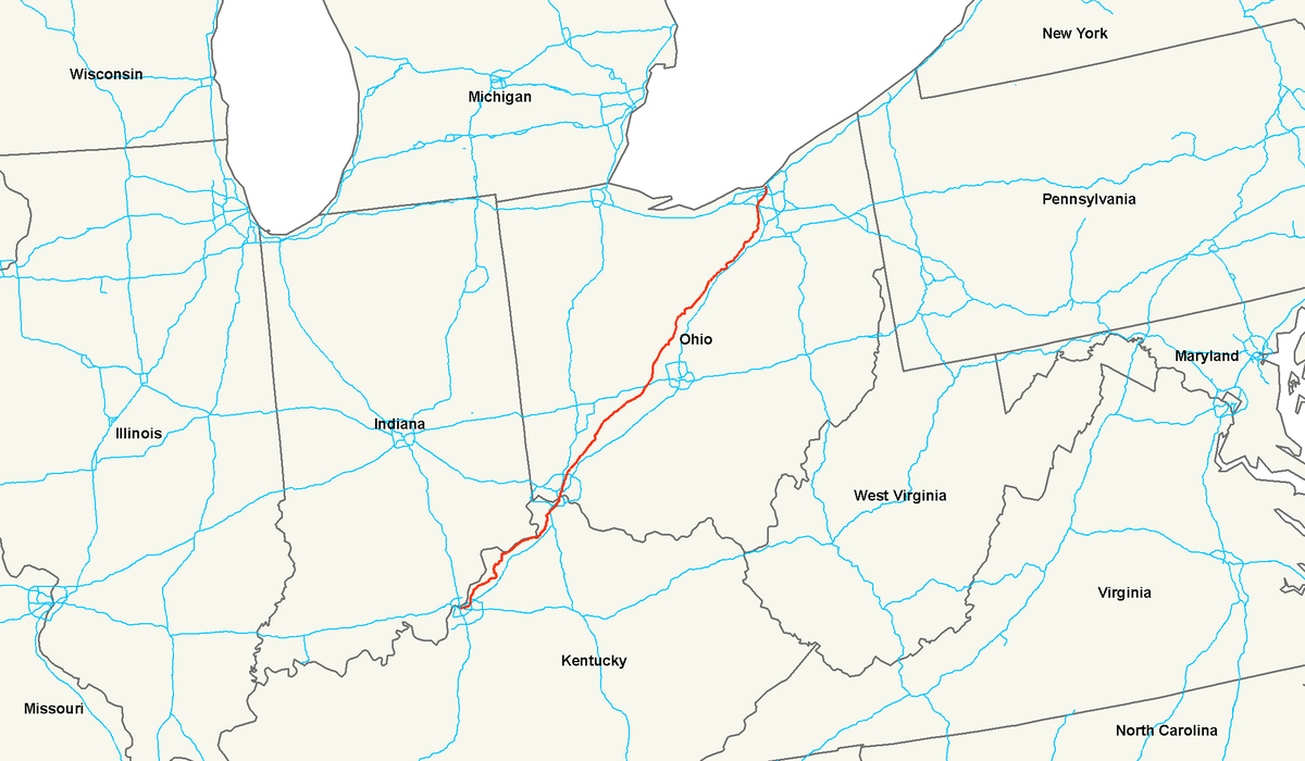 US Route Wikipedia - Us map of kentucky