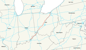 U.S. Route 42 - Image: US 42 map