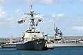 US Navy 021002-N-3228G-005 Sailors 'man the rails' aboard the guided missile destroyer USS Hopper (DDG 70).jpg