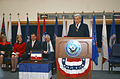 US Navy 030123-N-2620F-008 Senator John Warner speaks at the Washington Navy Yard during a ceremony held in honor of Gordon R. England.jpg
