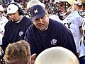 US Navy 031108-N-9593R-134 Navy head coach Paul Johnson talks to players.jpg