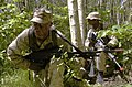 US Navy 040616-N-1823S-494 U.S. Marines patrol the woods in Ustka, Poland, in search of aggressors as part of Baltic Operations (BALTOPS) 2004.jpg