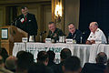 US Navy 040907-N-2383B-046 Chief of Naval Operations (CNO), Adm. Vern Clark, right, addresses a discussion panel on the war on terror.jpg
