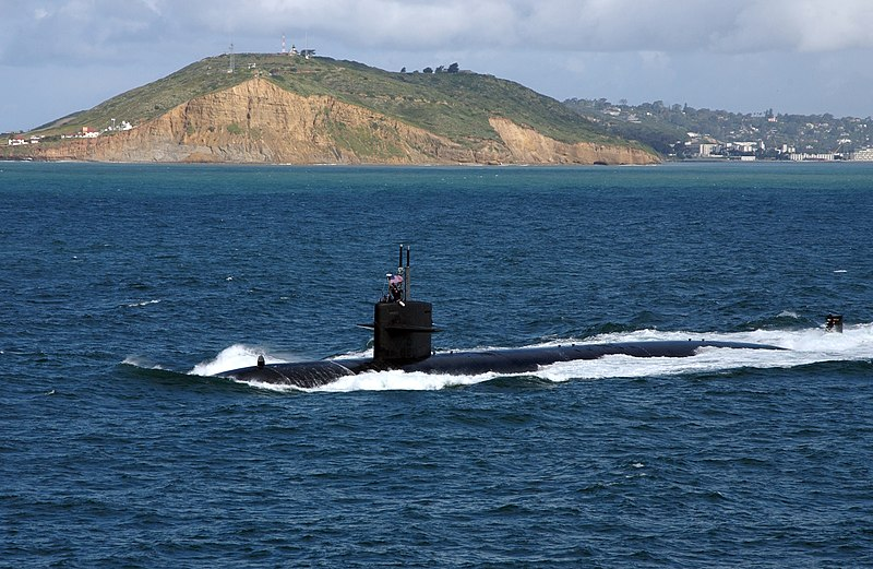 File:US Navy 050323-N-7615S-039 The Los Angeles-class fast attack submarine USS Salt Lake City (SSN 716) underway after departing Naval Submarine Base Point Loma, Calif., to conduct routine exercises in the Pacific Ocean.jpg