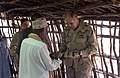 US Navy 060519-N-0411D-031 The Sultan of Tadjoura Abdoulaker Moumat Houmed, left, hosts Commander of Combined Joint Task Force Horn of Africa Rear Adm. Richard W. Hunt at his home near Tadjoura, Djibouti for lunch and a ceremon.jpg