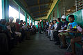 US Navy 080814-N-9620B-006 Nicaraguan families wait inside a classroom at Llano Verde School for medical treatment during a Continuing Promise 2008 medical humanitarian assistance project.jpg