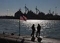 US Navy 081022-N-7668G-002 Crew members of the Los Angeles-class attack submarine USS Scranton (SSN 756) take a break.jpg