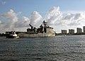 US Navy 090502-N-9588L-002 The Whidbey Island-class amphibious dock landing ship USS Ashland (LSD 48) departs Port Canaveral following Fleet Week Port Everglades 2009.jpg