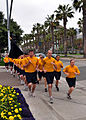 US Navy 100514-N-3038W-013 Sailors assigned to Navy Public Affairs Support Element West participate in a command run in downtown San Diego.jpg