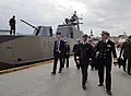 US Navy 100816-N-8273J-150 Chief of Naval Operations (CNO) Adm. Gary Roughead walks with Chief of the Royal Norwegian Navy Rear Adm. Haakon Bruun-Hanssen in Bergen.jpg