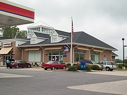 The U.S. Post Office at Harwood, Maryland, in May 2010.