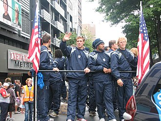 United States national rugby sevens team - The U.S. national rugby sevens team in Wellington for the 2008 New Zealand Sevens