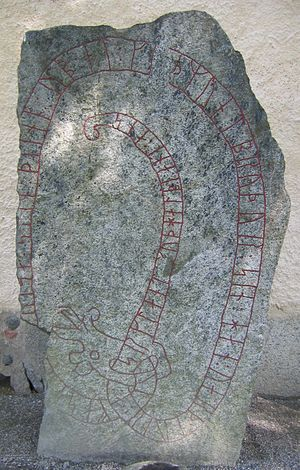 Tillinge Runestone - U 785 is a memorial to a man who died in Serkland.