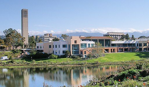 Ucsbuniversitycenterandstorketower - Coolcaesar at en.wikipedia [GFDL (http://www.gnu.org/copyleft/fdl.html)], from Wikimedia Commons