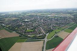 Uedem, Luftaufnahme, Ansicht von Norden