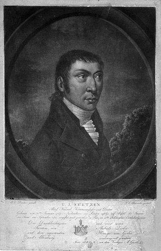 Ulrich Jasper Seetzen - Ulrich Jasper Seetzen. Mezzotint by F. C. Bierweiler after E. C. Dunker