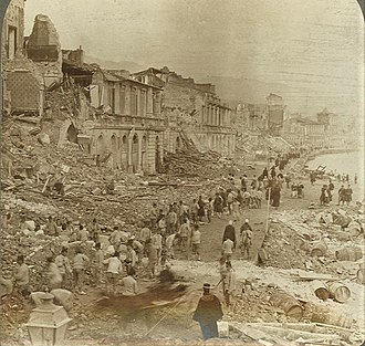 1908 Messina earthquake - Port of Messina after the earthquake and tsunami
