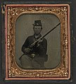 Unidentified soldier in Union uniform with cartridge box and musket LOC 5229202856.jpg
