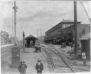 Dunkirk, New York - Union Depot, Dunkirk, between c. 1890 and c. 1900