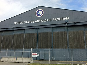 United States Antarctic Program - USAP hangar at Christchurch International Airport, Christchurch, New Zealand