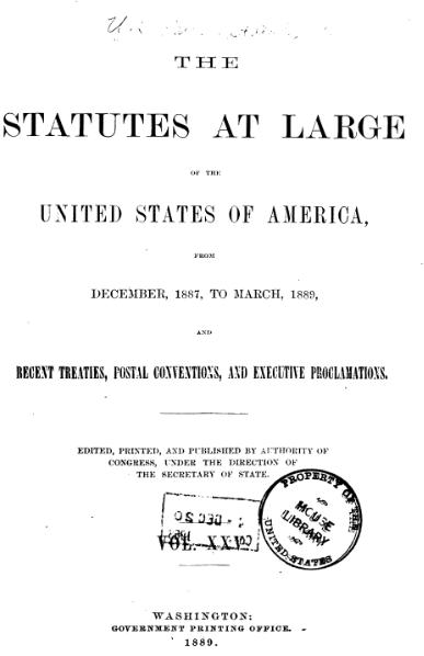 File:United States Statutes at Large Volume 25.djvu