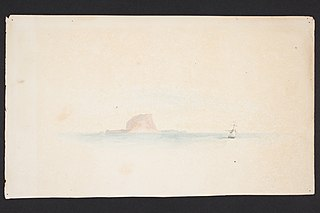 Untitled. [Island with ship]