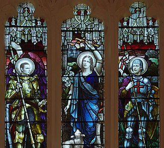 Thomas Agar-Robartes - Agar-Robartes (right) memorialised in stained glass at Selsey Abbey