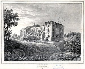 Tartu Cathedral - A depiction of the ruins of the cathedral in 1837.