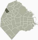 Location of Villa Pueyrredon within Buenos Aires
