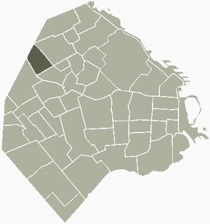 Villa Pueyrredón - Image: V Pueyrredon Buenos Aires map
