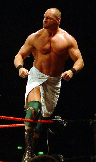 Val Venis - Morley in the trademark towel of his Val Venis character in 2006.